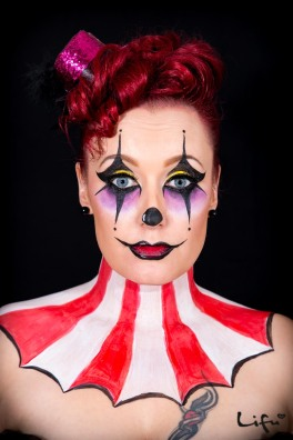 Halloween make-up and hair