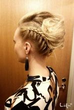 Quick hair updo