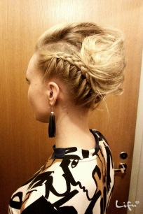 Quick hair updo