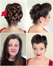Pin-up make-up and hair by Lifu
