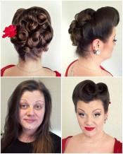 Pin-up make-up and hair by Lifu